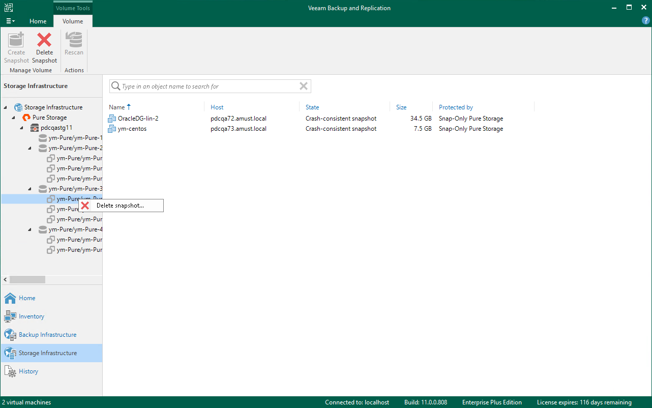 Creating and Deleting Snapshots - Veeam Backup Guide for vSphere