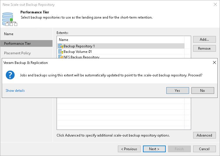 how to create veeam backup repository
