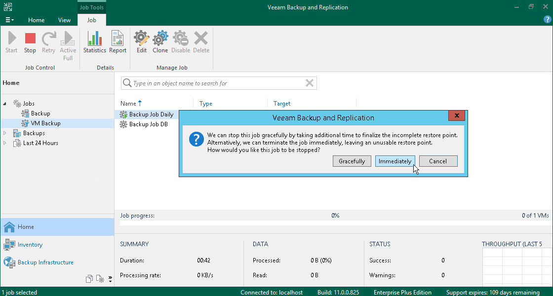 Starting And Stopping Jobs Veeam Backup Guide For Vsphere