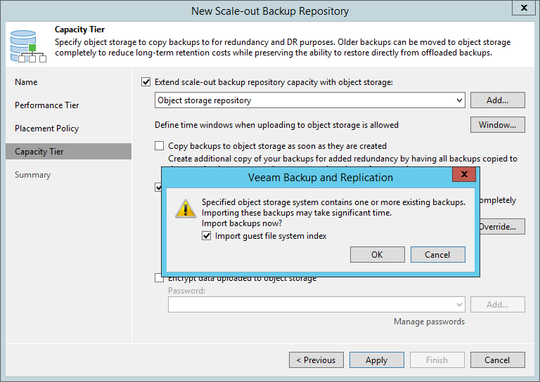 Synchronizing Capacity Tier Data - Veeam Backup Guide for