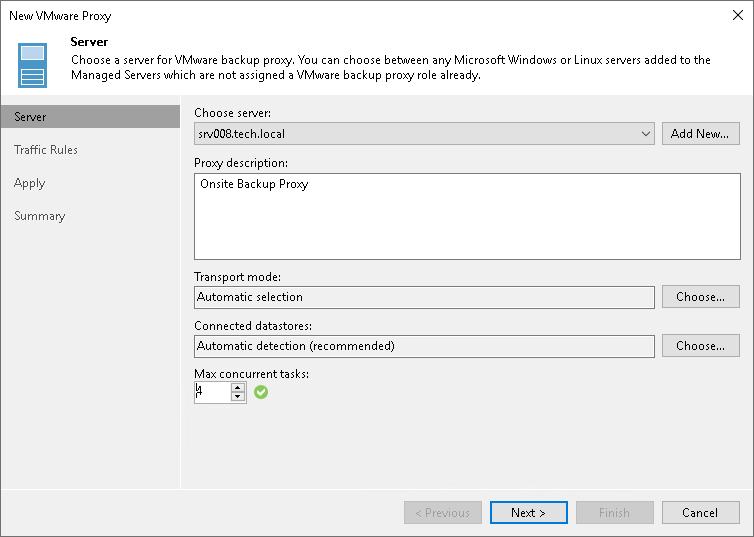 Limitation of Concurrent Tasks - Veeam Backup Guide for vSphere