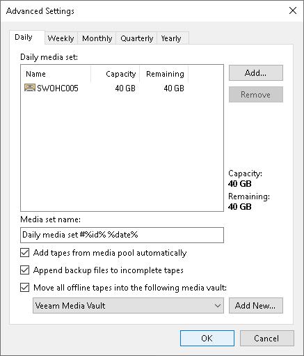 Moving Tapes to Vault - Veeam Backup Guide for vSphere