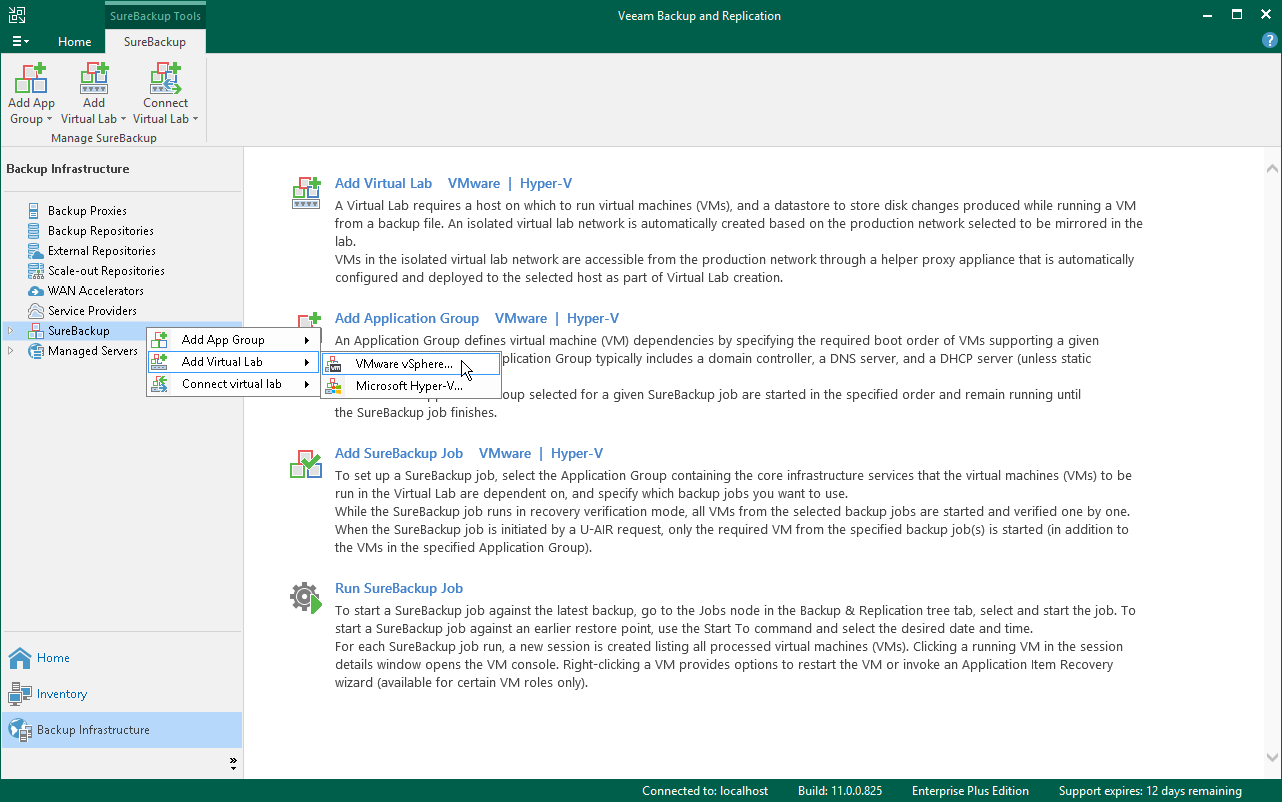 Step 1  Launch New Virtual Lab Wizard - Veeam Backup Guide