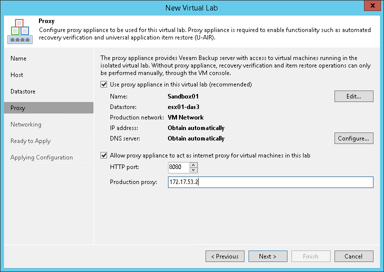 Step 5  Set Up Proxy Appliance - Veeam Backup Guide for vSphere
