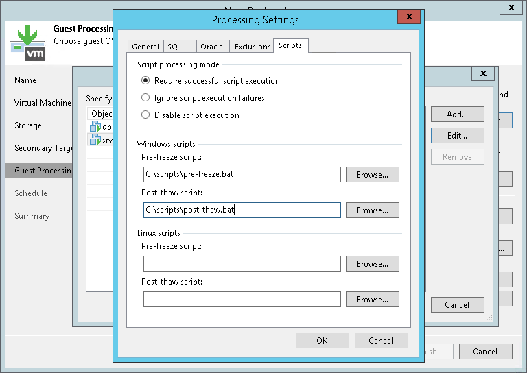 Pre-Freeze and Post-Thaw Scripts - Veeam Backup Guide for vSphere