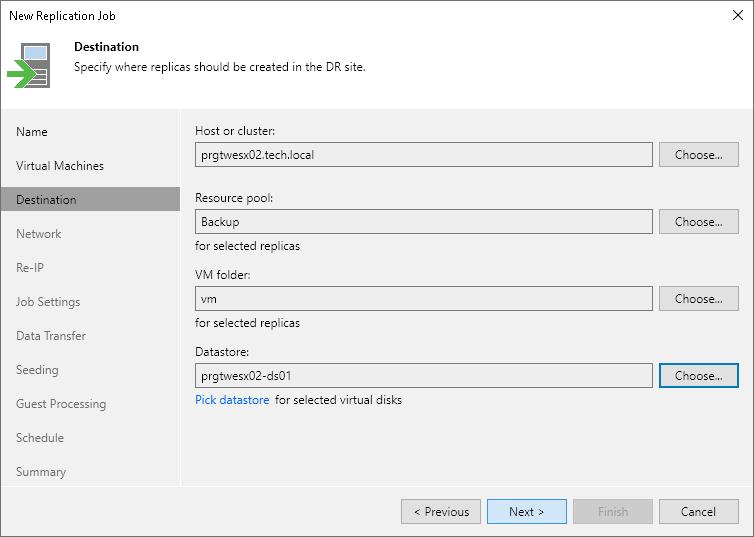 Step 7  Specify Replica Destination - Veeam Backup Guide for vSphere