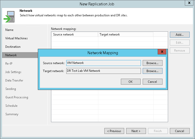 Step 8  Create Network Map Table - Veeam Backup Guide for vSphere