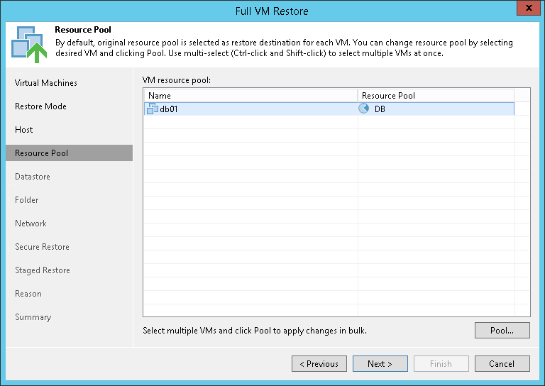 Step 6. Select Target Resource Pool