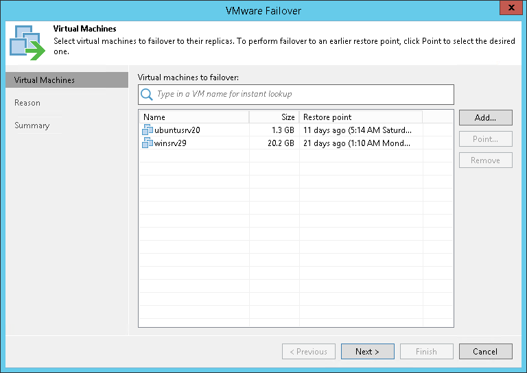 Step 2. Select VMs