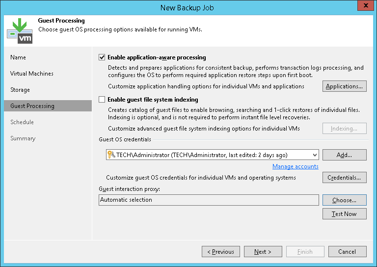Choice of Method for VM Quiescence - Veeam Backup Guide for