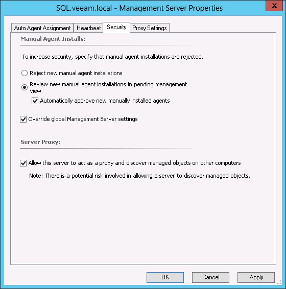 Step 3 configure agent proxy settings mp for veeam for Proxe vigila 3 manuale