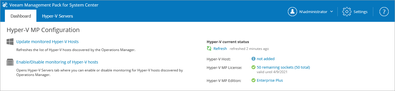 After You Install - Veeam MP for Hyper-V Guide