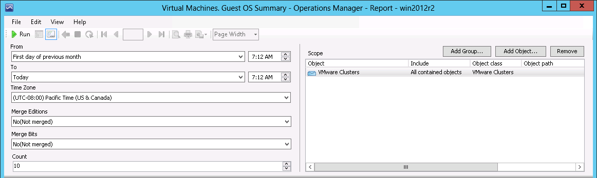 Virtual Machines  Guest OS Summary - Veeam MP for VMware