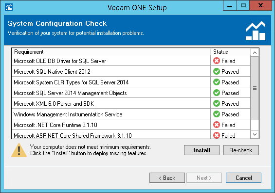 Step 7  Perform System Configuration Check - Veeam ONE