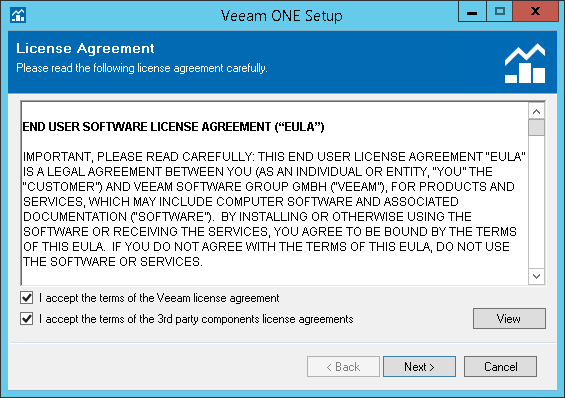 Step 4 Accept License Agreement Veeam One Deployment Guide