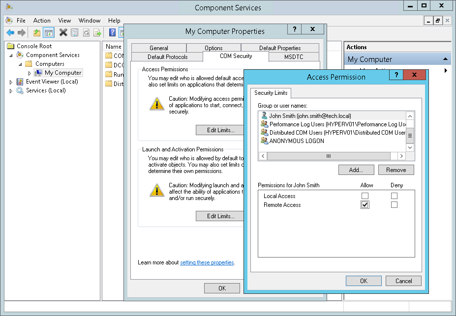 Configuring Permissions to Remotely Access WMI - Veeam ONE