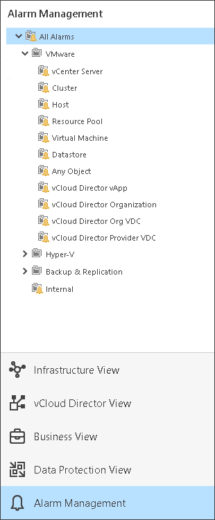 Inventory Pane - Veeam ONE Monitor Guide