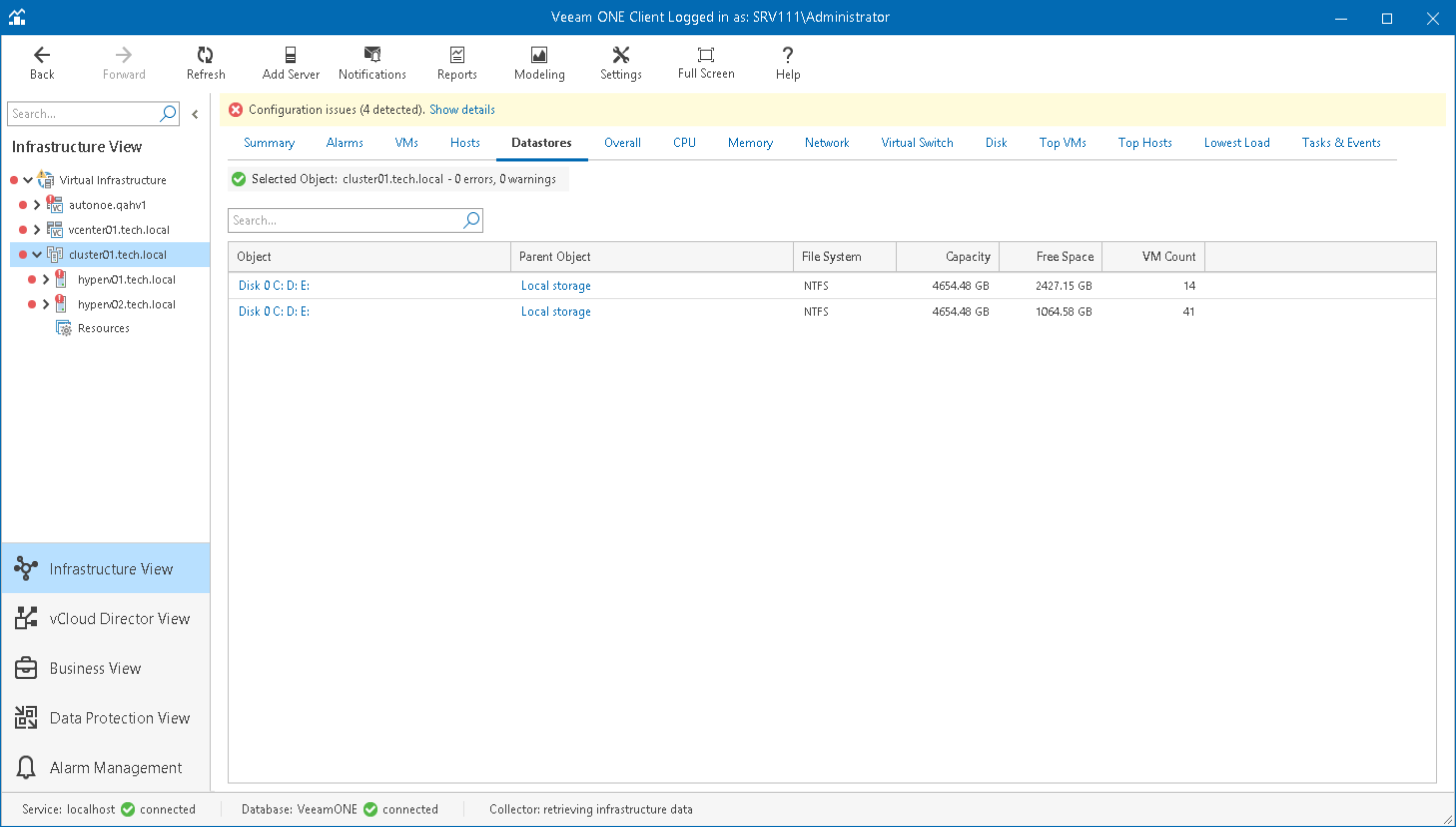 Microsoft Hyper-V Datastores - Veeam ONE Monitor Guide