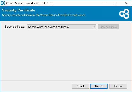 Veeam Service Provider Console v4  certificate