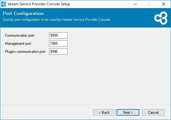 Veeam Service Provider Console v4  ports configuration