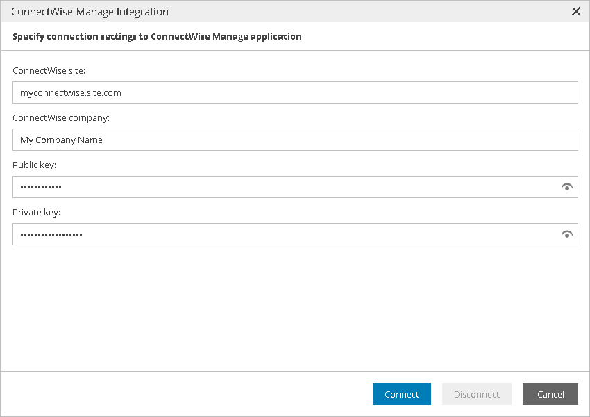 Step 2  Configure Plugin Connection - Veeam Availability Console