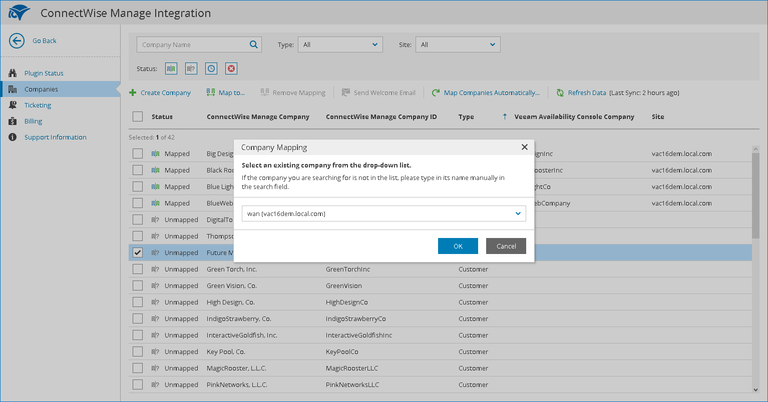 Mapping Companies - Veeam Availability Console Guide for