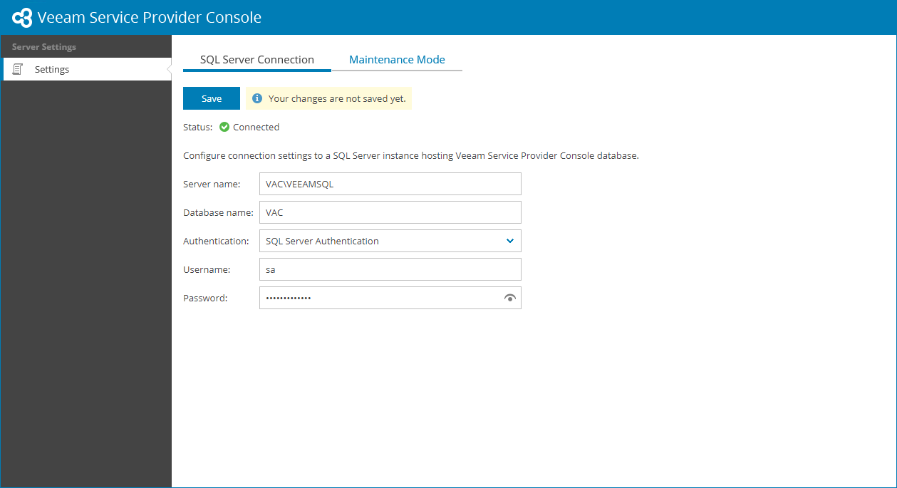 Configuring Sql Server Connection Settings Veeam Availability