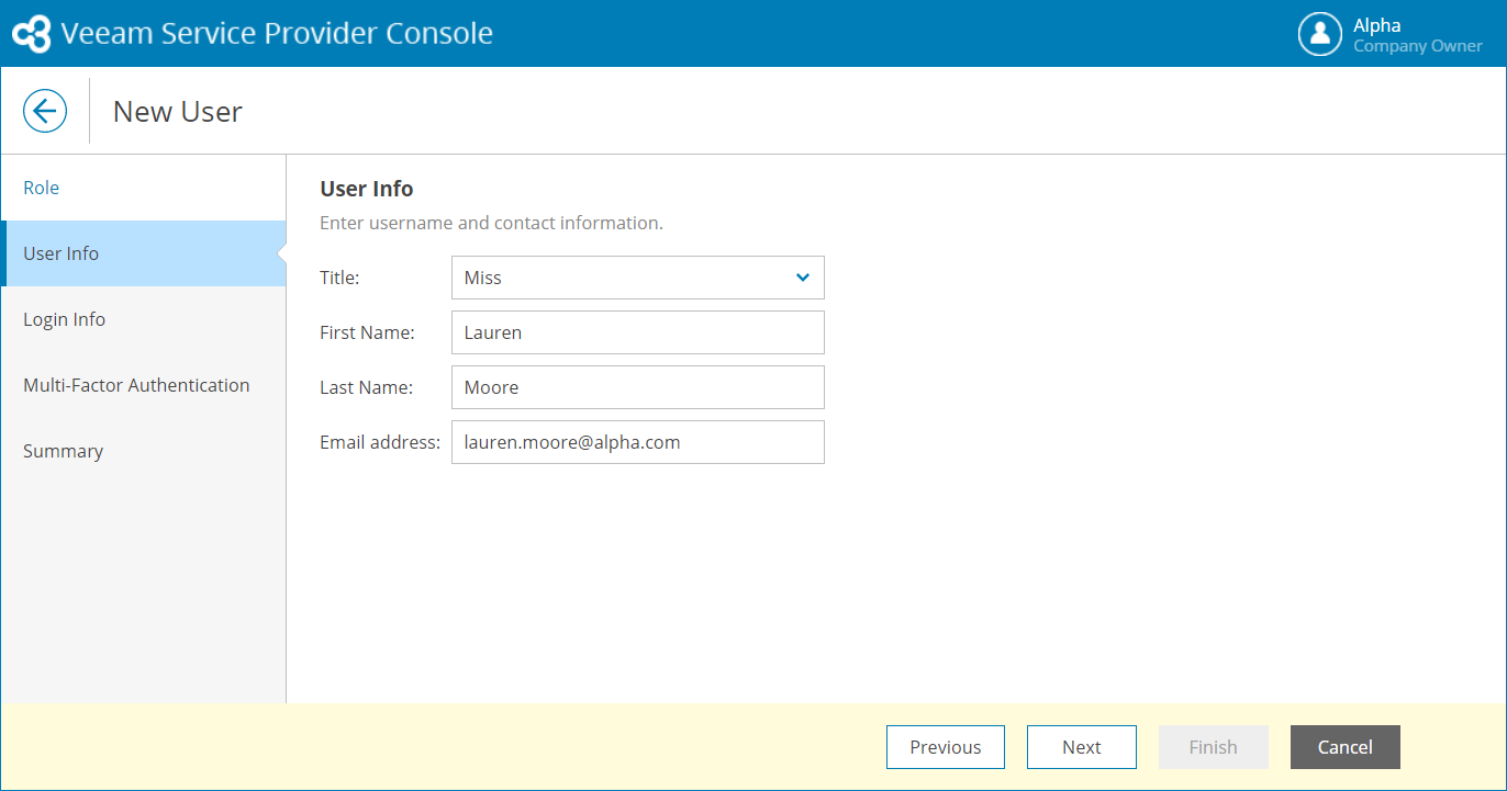 creating invoice auditors veeam availability console user guide