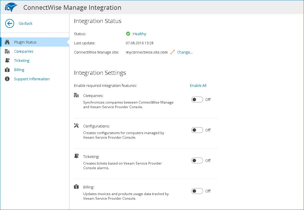Check Integration Status
