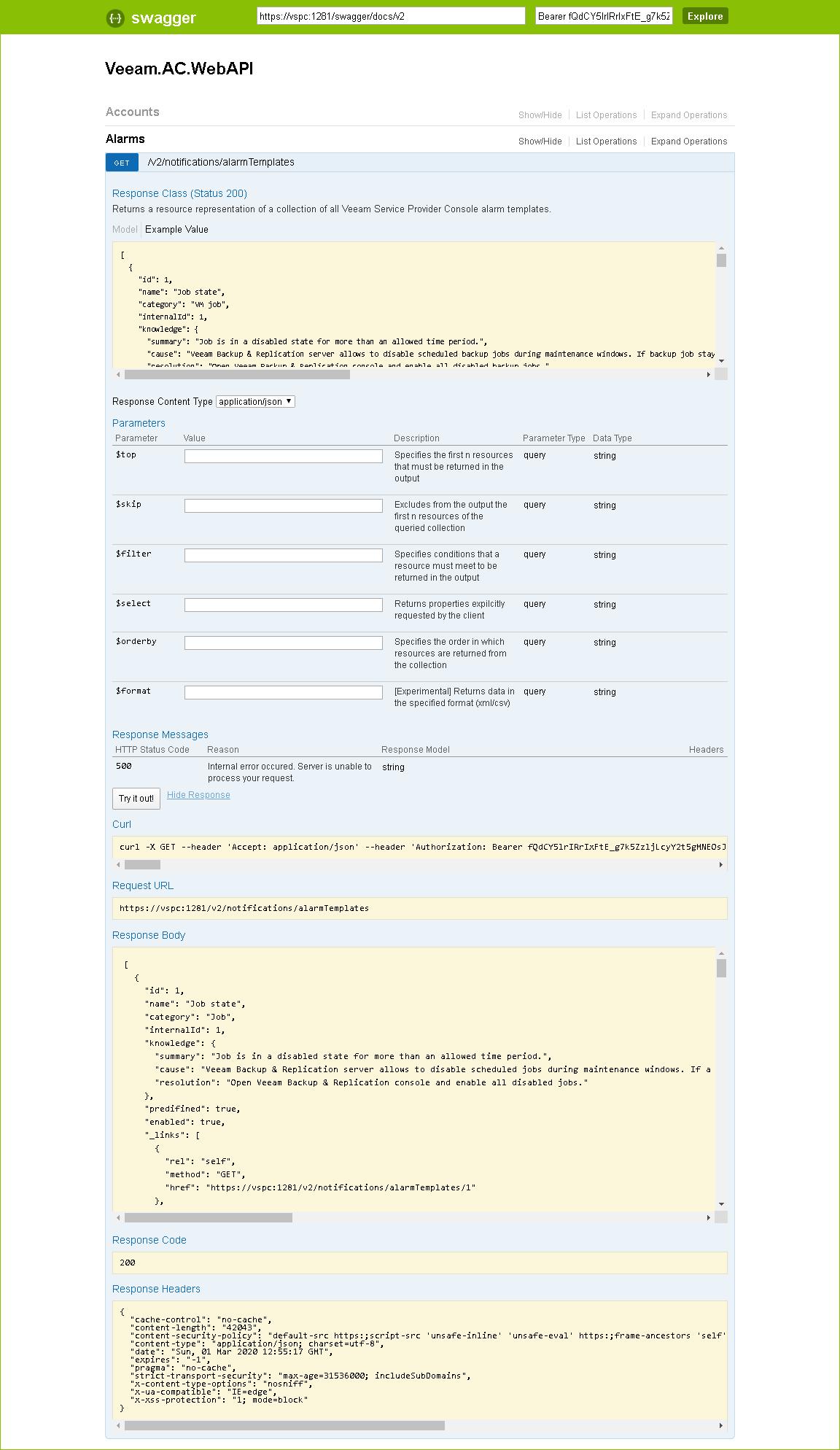 Sending Requests - RESTful API Reference