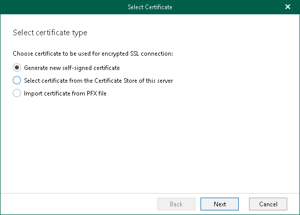 Installing SSL Certificate - Veeam Backup for Microsoft Office 365 Guide