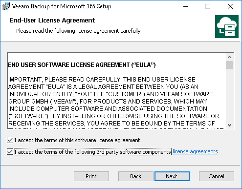 Installing Veeam Backup for Microsoft Office 365 - Veeam Backup for