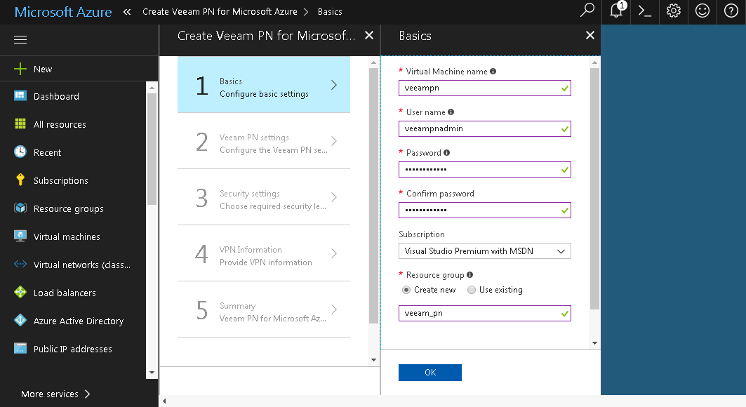 Set Up VPN Between Microsoft Azure and Local Sites - Veeam PN User Guide