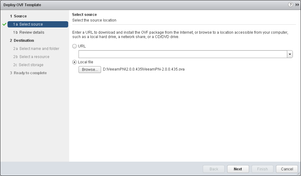 Deploying Network Hub in On-Premises Network - Veeam PN User