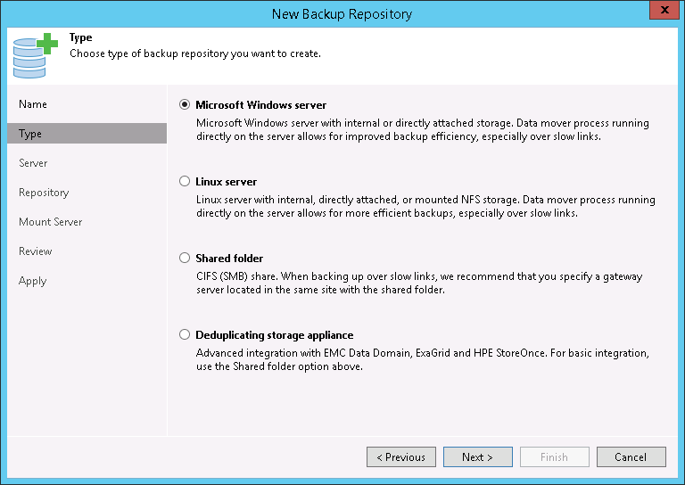 Configuring Backup Repository - Evaluator's Guide for VMware
